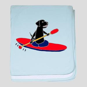 Kayaking Dog baby blanket