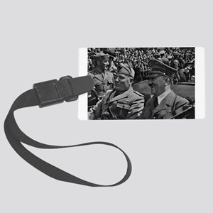 Hitler and Mussolini Luggage Tag