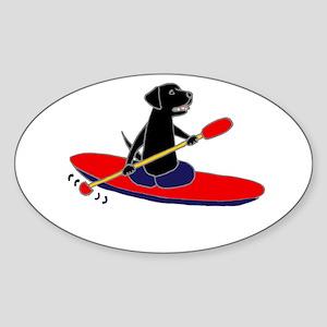Kayaking Dog Sticker