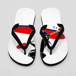 Kayaking Dog Flip Flops