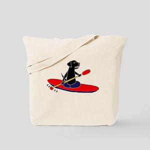 Kayaking Dog Tote Bag