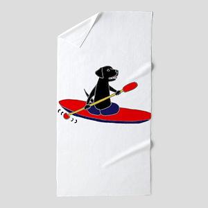 Kayaking Dog Beach Towel