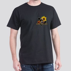 Black Cats for Peace Dark T-Shirt