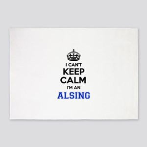 I can't keep calm Im ALSING 5'x7'Area Rug