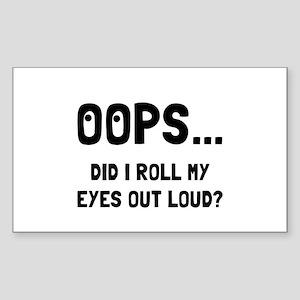 Eye Roll Sticker