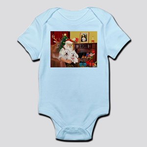 Santa/2 West Highland Infant Bodysuit
