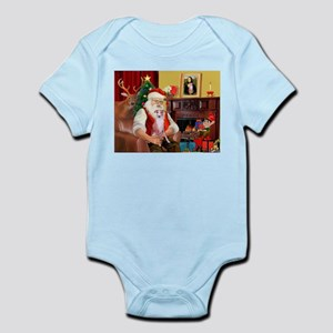 Santa's Whippet (#7) Infant Bodysuit