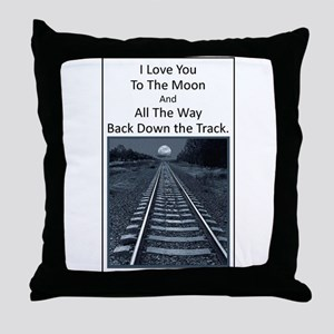 Love you to the Moon and back down the Track Throw