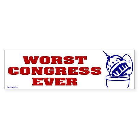 Worst Congress Ever Bumper Sticker