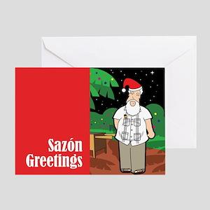 Noche Buena with Cuban Santa Greeting Card