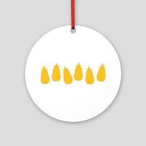 Bottles of Mustard Ornament (Round)