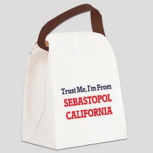 Trust Me, I'm from Sebastopol Cal Canvas Lunch Bag