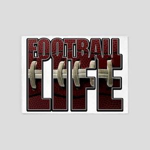 Football Life 5'x7'Area Rug