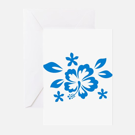 Hibiscus turquoise Greeting Cards (Pk of 10)