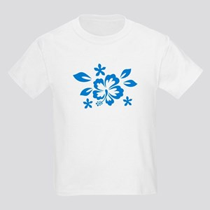 Hibiscus turquoise Kids Light T-Shirt