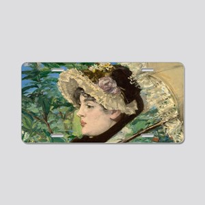 Jeanne by Manet Aluminum License Plate