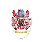 Welzel Oval Car Magnet