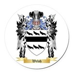 Welsh Round Car Magnet