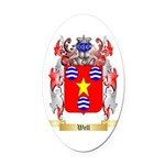 Well Oval Car Magnet