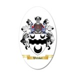 Welcker 35x21 Oval Wall Decal