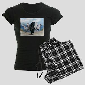 Wild Black Beauty Leader Women's Dark Pajamas