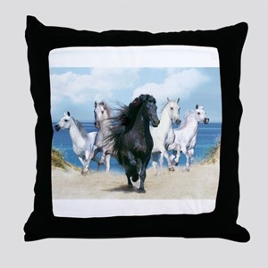 Wild Black Beauty Leader Throw Pillow