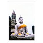 Buddha & Prayer Sash Large Poster