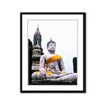 Buddha & Prayer Sash Framed Panel Print