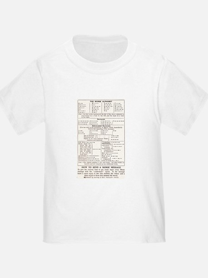 Morse Code Survival Design T-Shirt