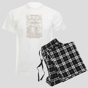 Morse Code Survival Design Men's Light Pajamas