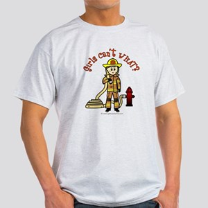 Blonde Firefighter Girl T-Shirt