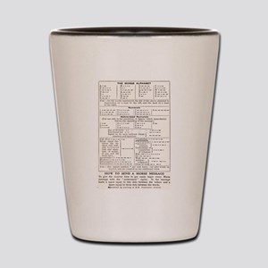 Morse Code Survival Design Shot Glass