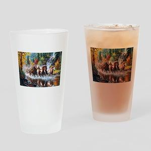 Wild Creek Run Drinking Glass