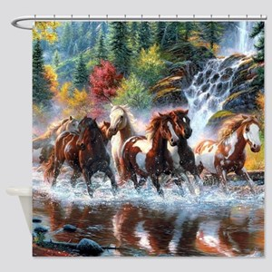 Wild Creek Run Shower Curtain