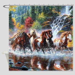 Wild Creek Run Shower Curtain