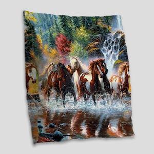 Wild Creek Run Burlap Throw Pillow