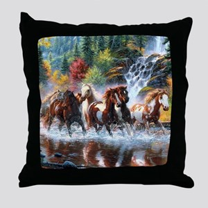 Wild Creek Run Throw Pillow