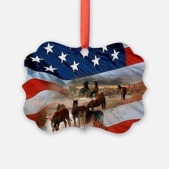 Funny Horses Ornament