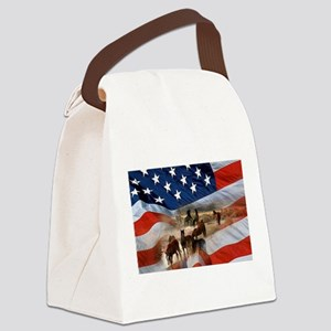 American Wild Canvas Lunch Bag