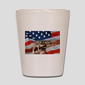 American Wild Shot Glass