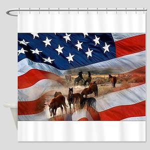 American Wild Shower Curtain