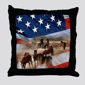 American Wild Throw Pillow