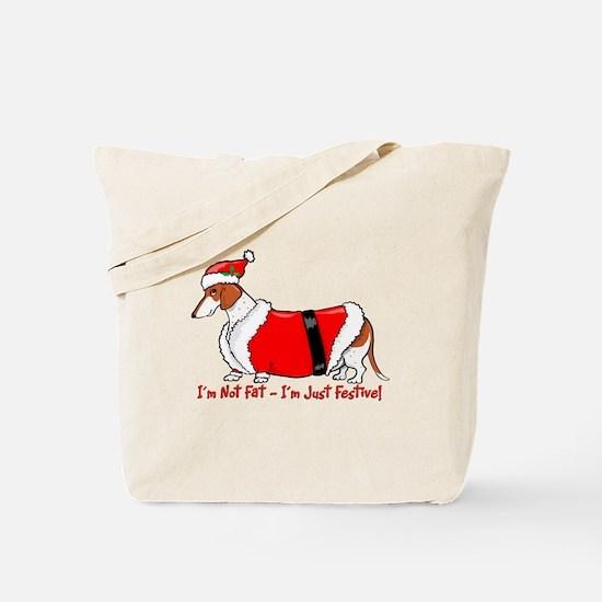 Red Piebald Santa Tote Bag