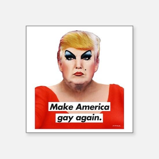 """Unique Gay pride Square Sticker 3"""" x 3"""""""