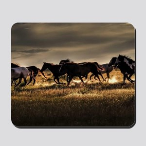 Wild Horses Running Free Mousepad