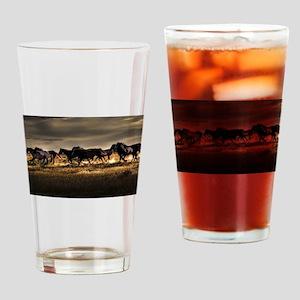 Wild Horses Running Free Drinking Glass