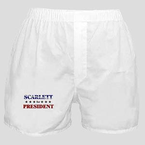 SCARLETT for president Boxer Shorts