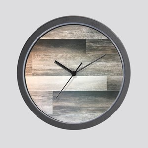 farmhouse grey barn wood Wall Clock