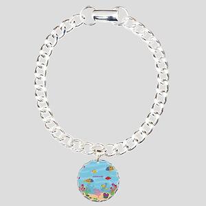 Ocean Aquatic Personaliz Charm Bracelet, One Charm