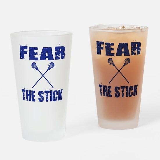 Fear the Stick Lacrosse Drinking Glass